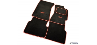 Black with Red Binding Tailor-made Car Mat Set for Subaru Impreza WRX & STI 1993-2019