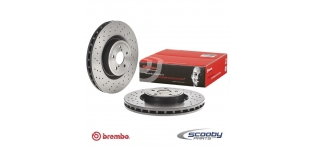 Brembo Drilled Front Brake Discs Subaru Impreza STI 2001-2004 Non-Widetrack