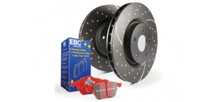 EBC Redstuff Rear Discs and Pads Pack STI 2004-2007 Widetrack