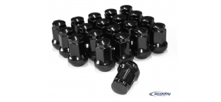 Titan Wheel Nuts Black - Set of 20