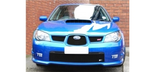 Zunsport BLACK Stainless Steel Grilles - Top or Bottom - Hawk Eye Impreza 06-07 ZSU14006B