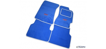 Blue with Silver Binding Tailor-made Car Mat Set for Subaru Impreza WRX & STI 1993-2019