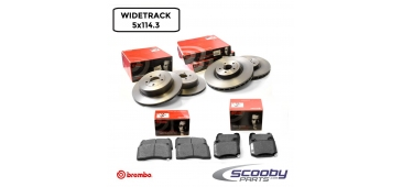 Brembo Front & Rear Brake Discs & Pads Pack STI 2005-2007 Widetrack 5x114.3