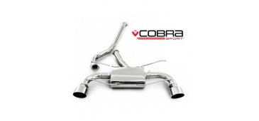 Cobra Exhaust Cat Back Sports Exhaust System (Non-Resonated) SU77 - Subaru BRZ (2012) 2.0L (RWD Petrol) - Subaru BRZ