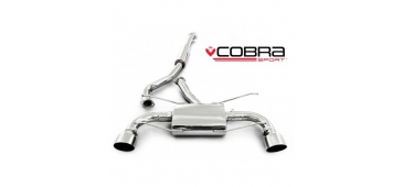 Cobra Exhaust Cat Back Sports System (Resonated) SU78 - Subaru BRZ (2012) 2.0L (RWD Petrol)