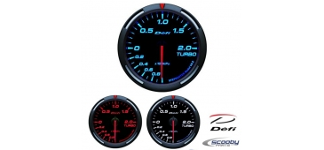 DEFI Racer Series Gauge Boost 52mm or 60mm Red, Blue or White for Subaru Impreza