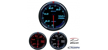 DEFI Racer Series Gauge Oil Pressure 52mm or 60mm Red, Blue or White for Subaru Impreza