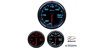 DEFI Racer Series Gauge Oil Temp 52mm or 60mm Red, Blue or White for Subaru Impreza