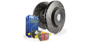 EBC Yellowstuff Rear Discs and Pads Pack STI 2001-2004 Non-Wide Track