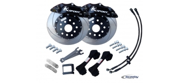 Ksport Front Brake Upgrade Kit - 330mm Black - STI & WRX 1993-2019