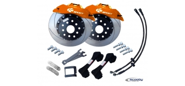Ksport Front Brake Upgrade Kit - 330mm Orange - STI & WRX 1993-2019
