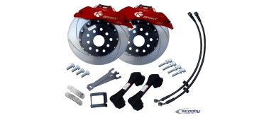 Ksport Front Brake Upgrade Kit - 330mm Red - STI & WRX 1993-2019