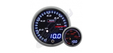 ProSport JDM Dual Stepper 52mm Gauge- Oil Pressure (BAR)