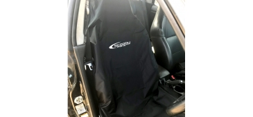 Airbag Compatible Seat Cover for Subaru Impreza, Legacy and Forester with Logo - Black