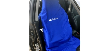 Airbag Compatible Seat Cover for Subaru Impreza, Legacy and Forester with Logo - Blue