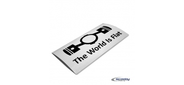 The World is Flat Sticker - Various Colours and Sizes