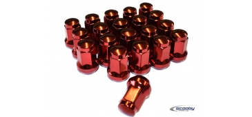 Titan Subaru Impreza Wheel Nuts Red - Set of 20
