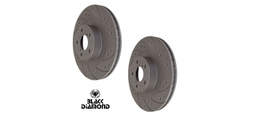 Front Drilled Grooved Brake Discs /& Pads Compatible With Impreza wrx blobeye