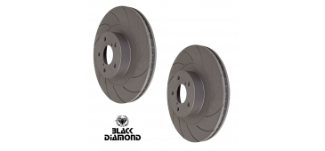 Black Diamond Grooved Front Brake Discs