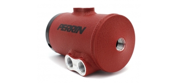 Perrin Universal Subaru Air Oil Separator - Textured Red Finish